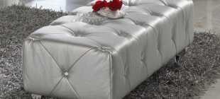 Обзор банкеток, кресел и пуфиков для спальни с фото примерами