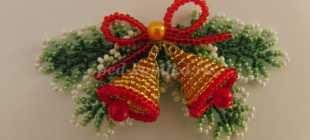 Новогодние сувениры своими руками из бисера: мастер-класс с фото