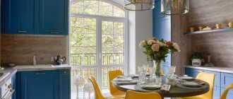Особенности кухни в голубом цвете, популярные тона и сочетания в интерьере