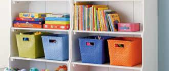 Система хранения детских игрушек – отличная идея для порядка в комнате