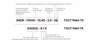 Расшифровка маркировки электродов для сварки
